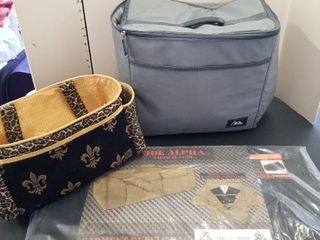 Code Alpha garment bag and assorted bags