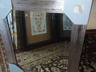 Decorative Wall Mirror Framed with Beveled Mirror New in Package 20 x 16 in
