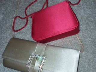 Jessica McClintock Clutch with Red Bag