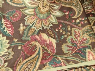 Curtains  Pillow Shams  and extra Fabric