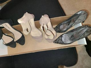 lADIES SHOES  3 pair NINE WEST  Size 7 and 6 5