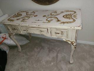 Handpainted Wood 3 Drawer Vanity 31 x 52 x 24 in