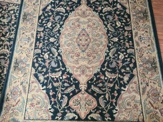 Kathy Ireland Black and Tan Floor Rug 68 x 46 in