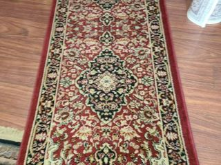 Regal Red Medallion Rug 68 x 24 in