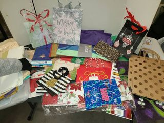 Christmas Gift Bags and Tissue Paper