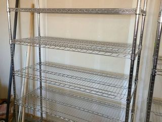 Wire Shelving Unit 6 Shelves with Wheels 77 x 47 x 18 in