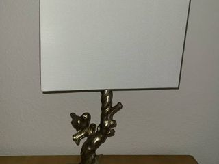 2 Table lamps with bird on branch