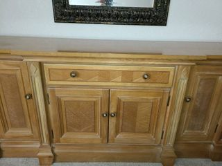light Brown  Almost Blonde in color   Buffet  1 Drawer with storage below  32 x 69 x 19