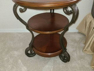 Wooden Side Table  26 x 22