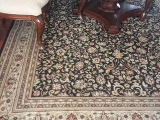 Black and Tan Floor Rug 131 x 92 in