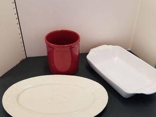 Platter  serving dish and utilise holder
