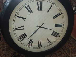Wood Framed Wall Clock 29 x 29 in