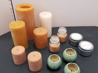 Assorted candles