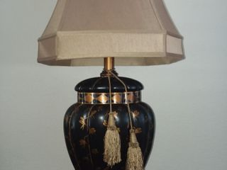 Black and Copper Colored Table lamp