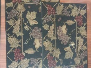 Pair of Vineyard Design Floor Rugs 39 x 26 in Each