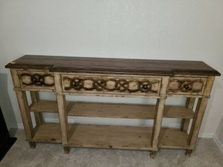 HOOKER  Brown Buffet with 3 drawers  34  x 26 x 12