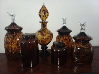 Glass Canister Set 6 Pieces
