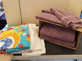 Purple bath towels  hand towels and bath mats