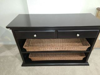 Black  Buffet  Style with 2 drawers and 2 baskets below  32 x 48 x 18 5