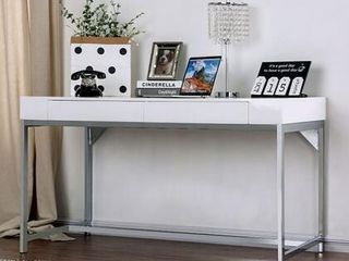 loke Collection CM DK5204 Computer Desk in White