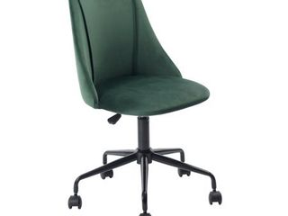 FurnitureR Multi Colors Velvet Fit up Office Chair  Cian Green 1PC
