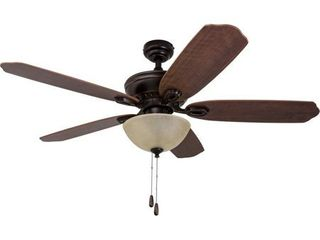 HKC US Prominence Home Spring Hollow Ceiling Fan  Reversible Fan Blades  Oil Rubbed Bronze   52 inch
