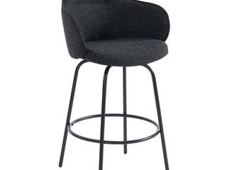 Colani 26  Counter Stool  Set of 2  Charcoal  Retail 334 94