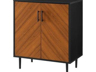 28  Modern Bookmatch Accent Cabinet   Solid Black