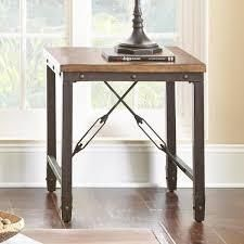 Ashford Antique Honeywell Pine and Iron Industrial End Table