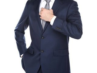 Men s Navy Slim Fit Italian Styled Two Piece Suit