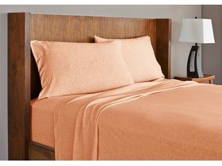 Grand Patrician Heathered Jersey Knit Bed Sheet Set