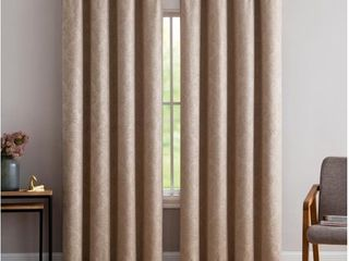 Gracewood Hollow Plakalo Embossed Thermal weaved Blackout Grommet Drapery Curtains
