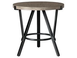 Zontini Contemporary light Brown Round End Table   24 W x 24 D x 24 H  Retail 105 99