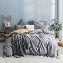 Beaute living Washed Cotton Duvet Cover   Shams