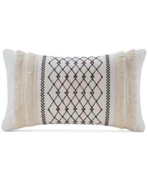 Ink Ivy Bea 12  x 20  Embroidered Oblong Decorative Pillow