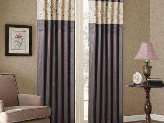 Madison Park Belle Embroidered Window Curtain Panel   50 W X 84 l   50 W X 84 l