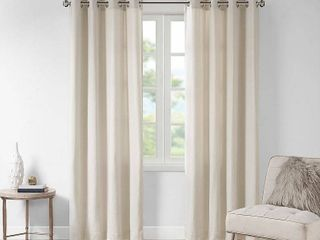 Madison Park Oslow Solid Piece Dyed Grommet Top Window Panel