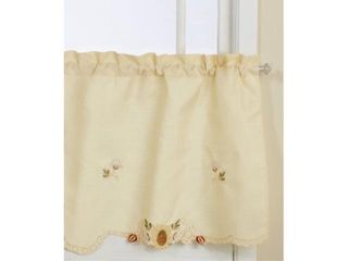 lorraine Home Fashions Sunflower Tier Curtain Pair  60 by 36 Inch  Multi Color