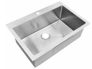 Koozzo Drop in Stainless Steel Kitchen Sink  TR3322  Retail 194 99