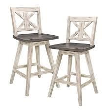 Homelegance Amsonia 24  Swivel Bar Counter Height Chair Stool  2 Pack    Retail Value  219 99