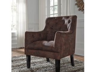 Drakelle Traditional Faux leather Accent Chair  Retail 262 49