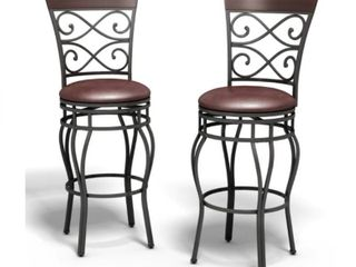 Copper Grove Esperance Swiveling Vintage Bar Chairs with Padded Seats  Set of 2  Retail 156 99