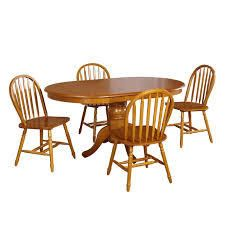 Simple living Farmhouse Oak Dining Chairs Set of 4