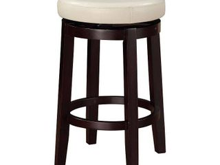 linon Dorothy Backless Counter Stool Rice Swivel Seat   Retail  99 99