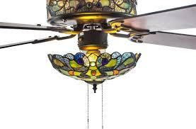 River of Goods 52 W Magna Carta Stained Glass Ceiling Fan