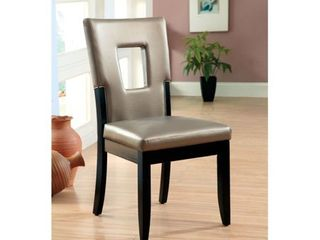 Set of 2 Evant I Contemporary Side Chair  Black Finish  Set of 2