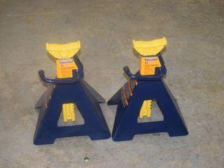 Pair hein Werner Automotive 6 Ton Jack Stands
