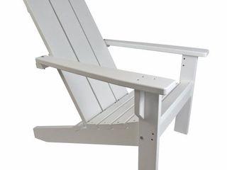 Evergreen Patio Poly Adirondack Chair   White