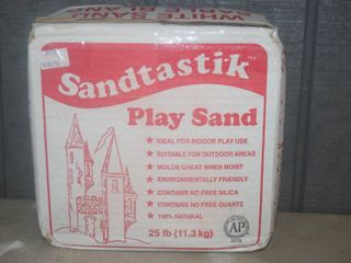 25 Pounds White Play Sand