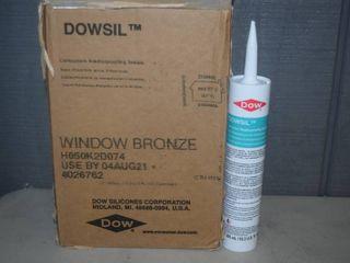 12 Tubes Dowsil Window Bronze